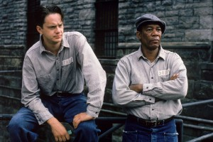 Andy and Red in The Shawshank Redemption