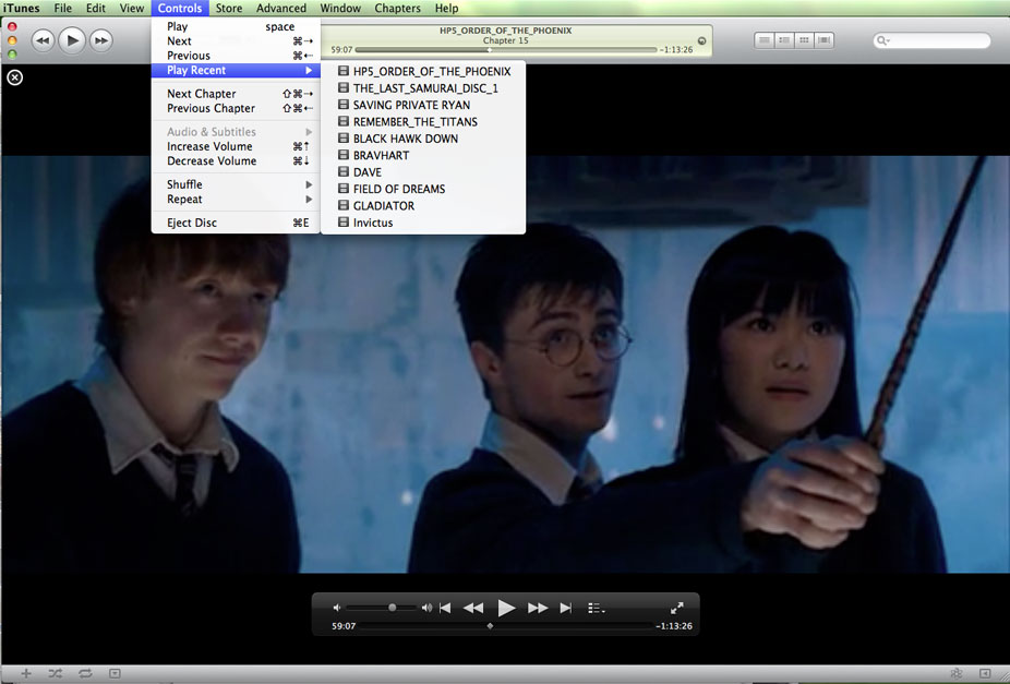iTunes screen grab