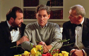 Kevin Kline as Dave, with his advisers