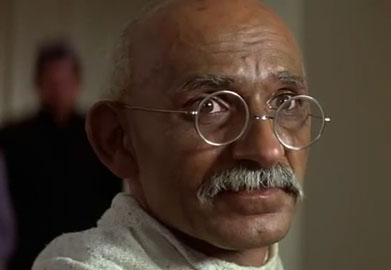 an interpretation of the movie gandhi The film spans gandhi's adult life, showing how his spiritual principles of equality, tolerance, and nonviolence inspired india to push for independence from british rule the movie pulls no punches in showing the violence that came out of the partition of india into india and pakistan.