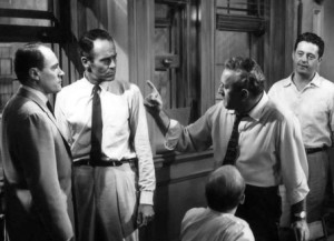 Henry Fonda and fellow jurors in 12 Angry Men